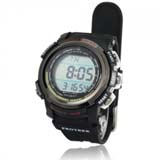 New Solar Power Energy 100M Waterproof Digtal Sports Watch - Black